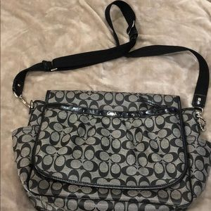 Coach Messenger style Diaper Bag